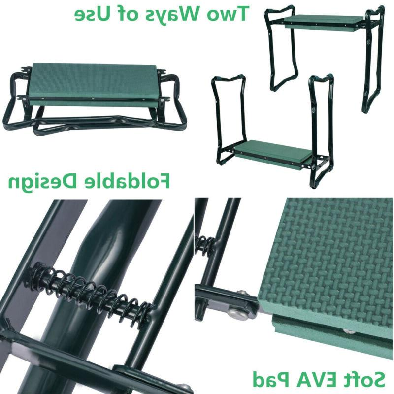 Garden Seat Soft Bench Portable Stool w Pouch