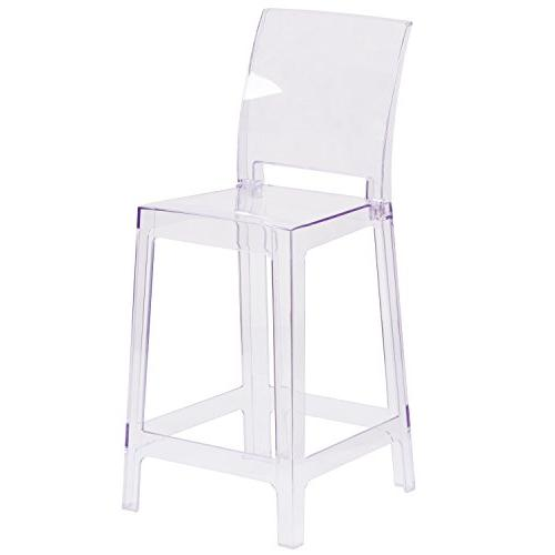 ghost counter stool transparent crystal