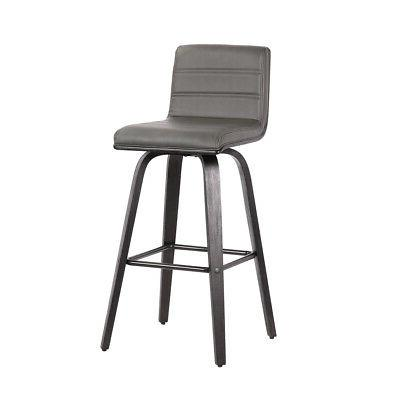 leatherette bar height bar stool with horizontal