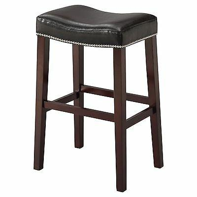 Acme Furniture Lewis Counter Stool, Set Of 2 In Black, Pu An