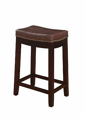 Linon Backless Stool, 24 Height, Multiple Colors