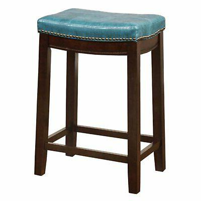 Linon Backless Stool, inch Seat Height,