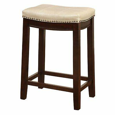 Linon Stool, 24 Seat Height, Multiple Colors
