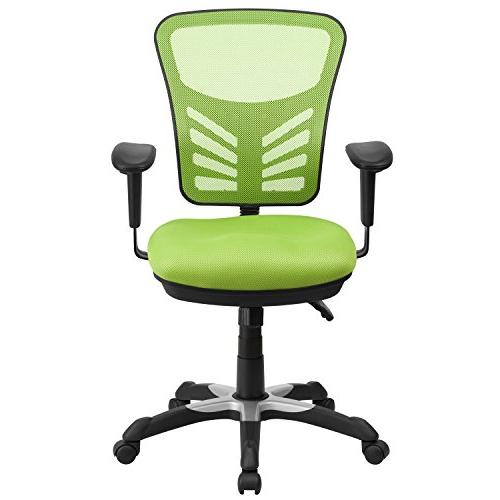 Mid-Back Mesh Office Chair, Green