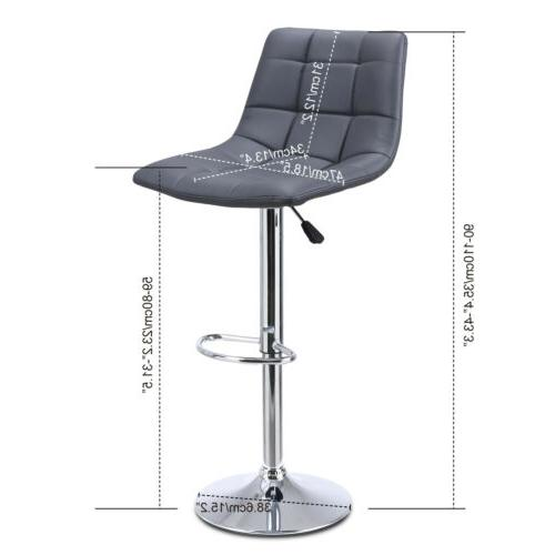 Modern Set of Pub Chair Bar Counter PU Leather Kitchen Dining