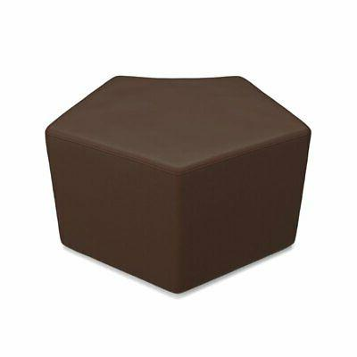 quin reception stool in brown