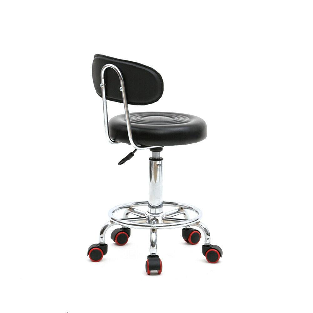 Round Stool,Swivel Stool Chair with Rolling