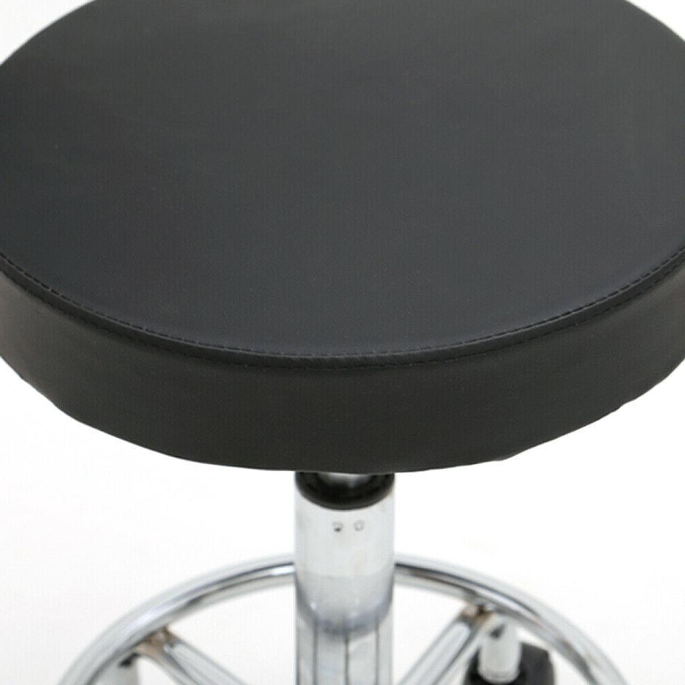 Round Stool with Rolling Wheels,