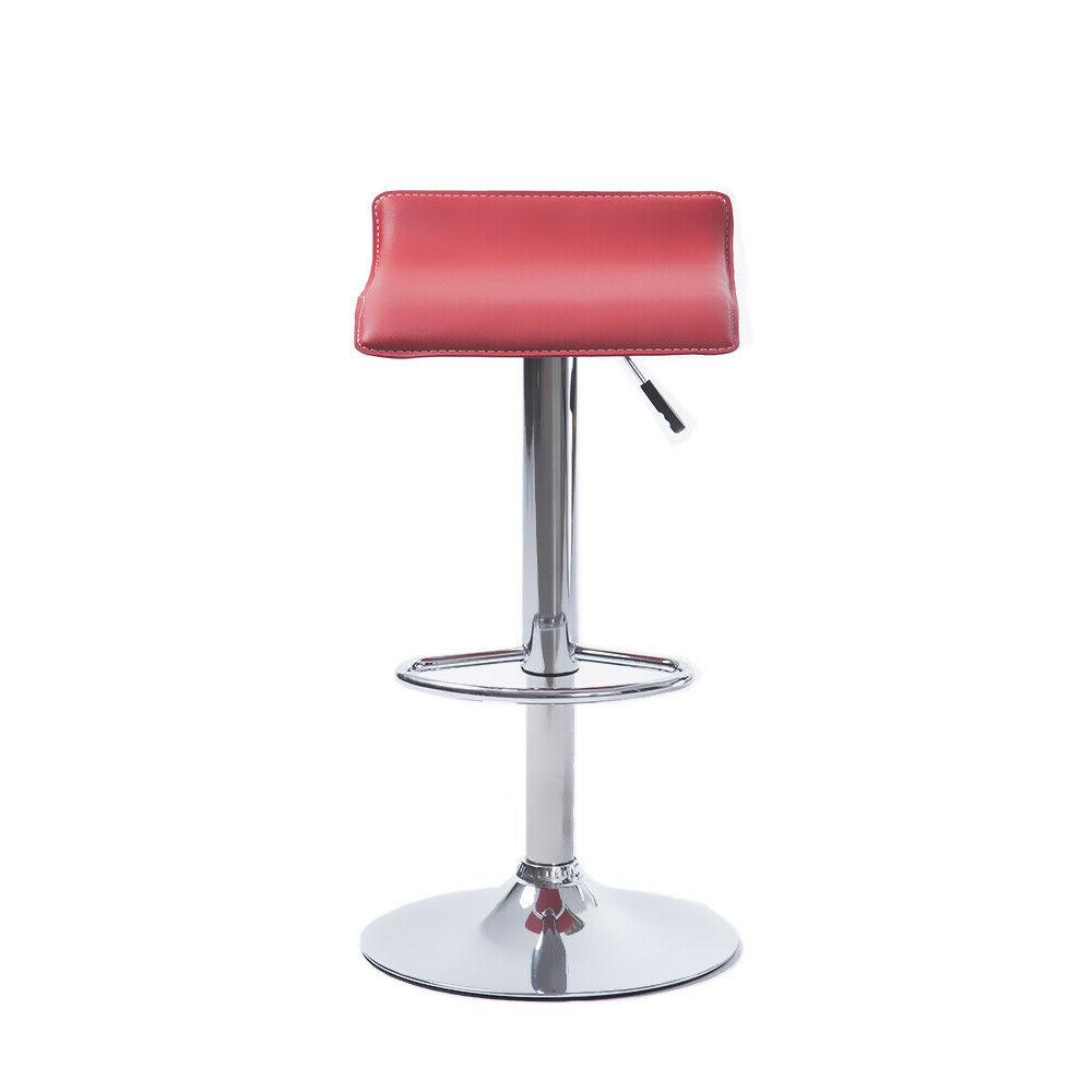 Set of Bar Stool Adjustable Height Counter Swivel Chair