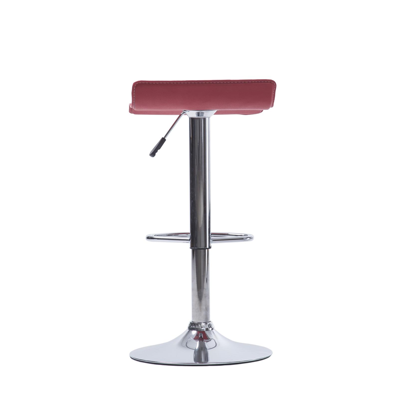 Set 4 Stool Adjustable Height Leather Counter Chair
