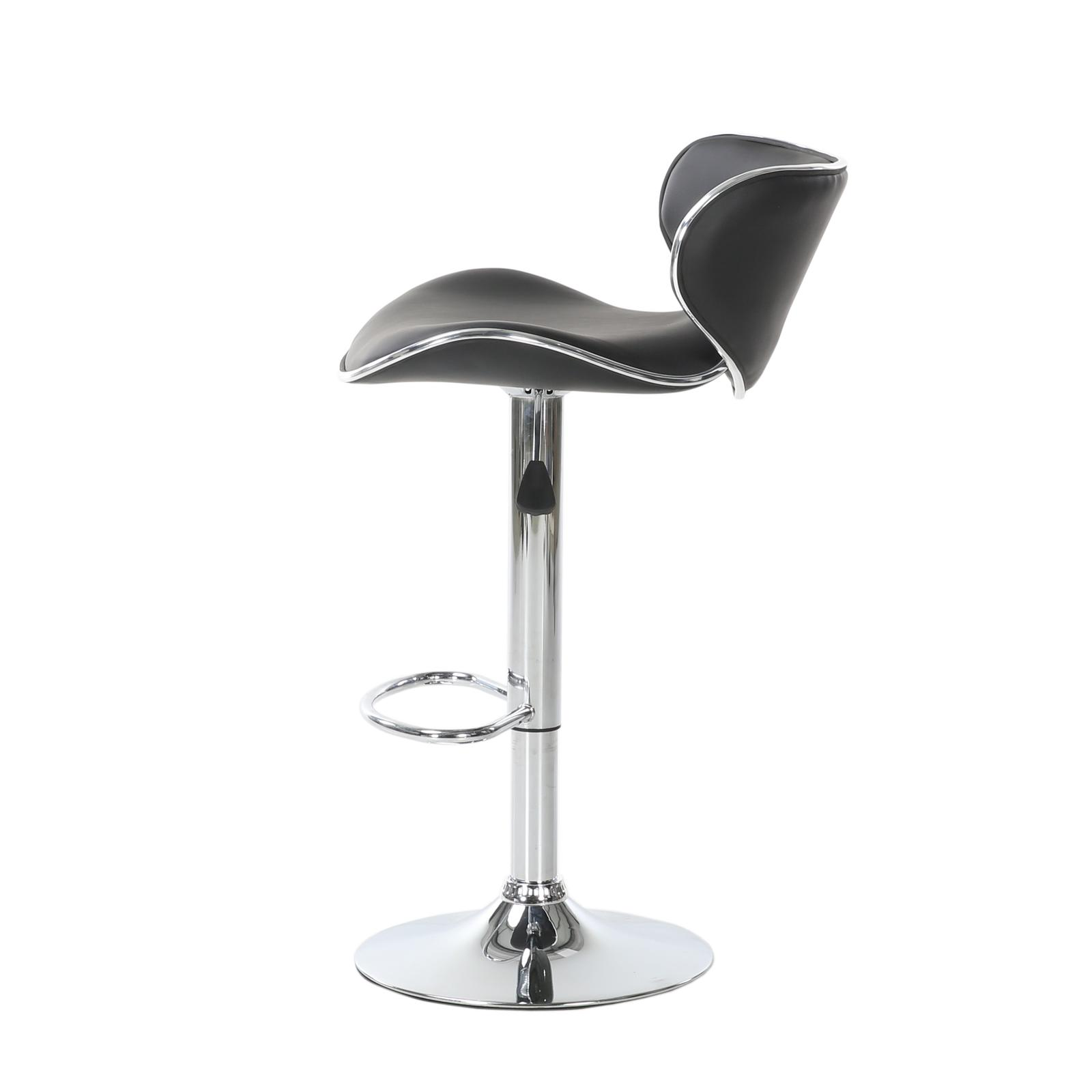 Set 2 Stools PU Leather Counter