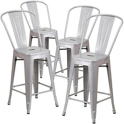 set of 4pc modern counter height style