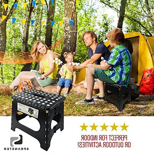 Stool - - Holds 300 Lb - lightweight step is support enough for resistant open with one flip