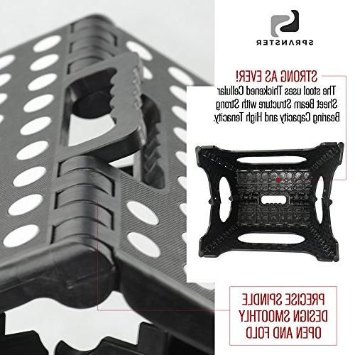 Super Strong Step Stool - - Holds 300 - lightweight foldable is sturdy support & safe enough for kids. resistant and one