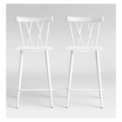 Threshold-Set of 2 Becket Metal X Back Counter Stool-Project
