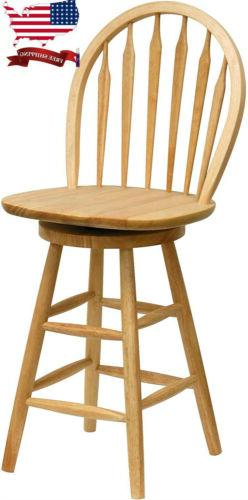 """Wagner Arrow-Back Counter Stool with Swivel Seat 24"""" Height"""