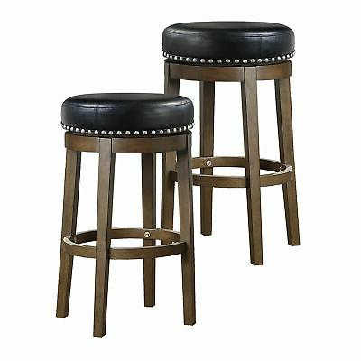 Lexicon Whitby 30.5 Inch Pub Height Round Swivel Seat Bar St
