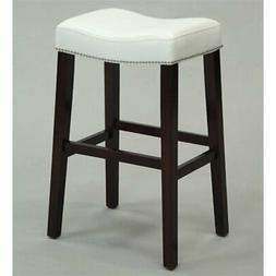 ACME Lewis Counter Height Stool , White PU and Espresso