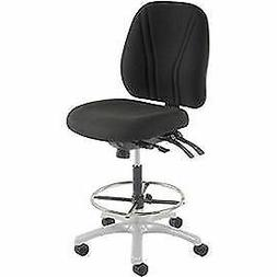 Manager Stool - 360° Footrest Without Arms - Black