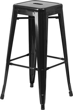 Metal Bar Stool in Black