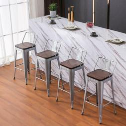 Metal Low Back Bar Stool Industrial Bar Stools Counter Kitch