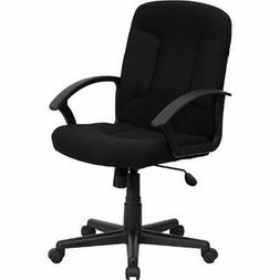 Mid-Back Home Office Desk Chairs Black Fabric Executive Swiv
