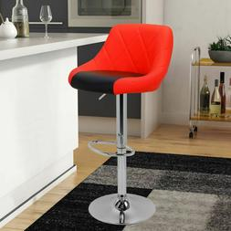 Model Mix Black & White Bar Stool Chair Adjustable Home Coun