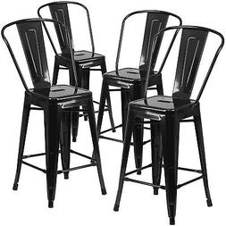 "Modern Industrial Bucket Back Barstool, 30""inch Seat Height"