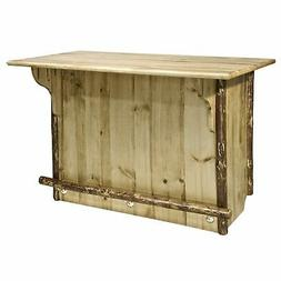 Montana Log Collection Wood Bar Stool Table In Stain And Lac
