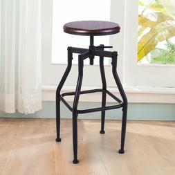 Dining Chair Bar Stackable Stools Vintage Wood Top Height Ad