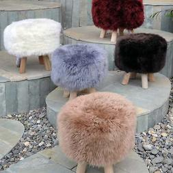 Nordic Sheep Hide Stool by Christopher Knight Home  Small