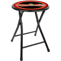 Officially Licensed - Budweiser Folding Stool - 18 Inches Ta