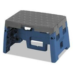 """Cosco One Step Folding Stool, 300 lb, 8 1 2"""" Working Height,"""