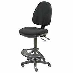 Operator Stool - 180° Footrest Without Arms - Black