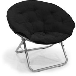 Oversized Moon Chair Seat Stool Saucer Soft Folding Living R