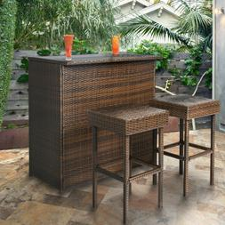 Outdoor Patio Bar Height Dining Set Wine Small Bistro 5 Piec
