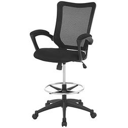 Modway Project Drafting Chair In Black - Reception Desk Chai