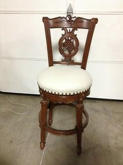 Frontgate Provencal Carved Grape BAR Stool Counter Barstool