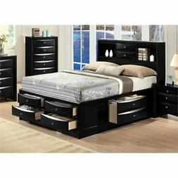 Bowery Hill Queen Bed with Storage in Black