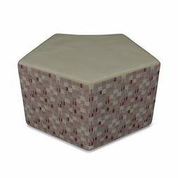 OFM Quin Reception Stool in Taupe Plum