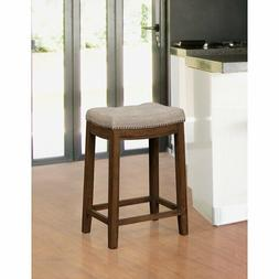 """Russett Upholstered Backless Solid Modern Counter 26"""" Seat H"""