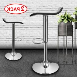 Set of 2 Modern Bar Stools Leather Counter Chairs Adjustable