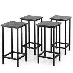 """Set of 4 Bar Stools 24"""" Counter Height Backless Dining Stool"""