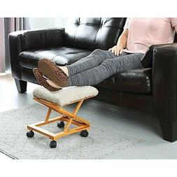 Etna Sherpa Top Foot Rest - Rolling Collapsible Cushioned Fo