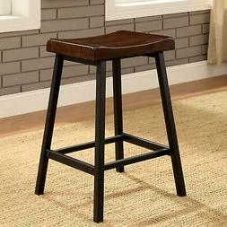 Furniture of America Solid Oak Wood Counter Height Stools We