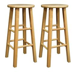 Winsome Wood Winsome Wood 29-Inch Square Leg Bar Stool - Set