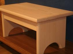 """step stool, wooden step stool, wood step stool, 7 1/2"""" unfin"""