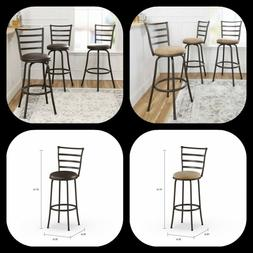 Swivel Bar Stools Adjustable Counter Height Kitchen Dining C