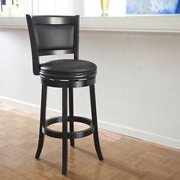 Swivel Cushioned Bar Stool Seat Augusta 29 Inch Tall Solid H