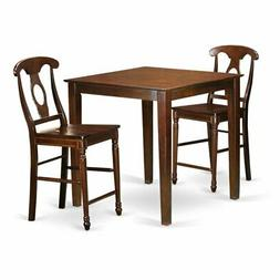 East West Furniture Vernon 3 Piece Keyhole Dining Table Set
